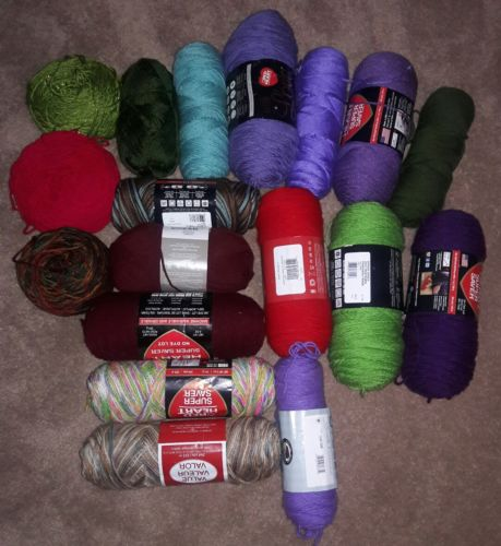 large lot of mixed yarn mostly new