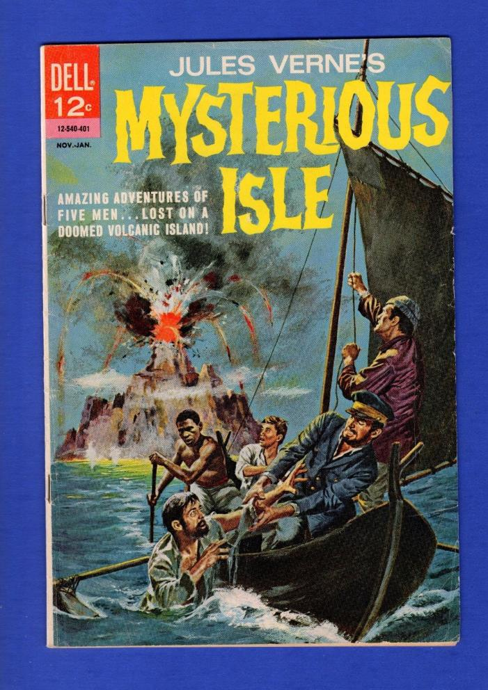 MYSTERIOUS ISLE #1 FN+ JULES VERNE'S DELL COMICS 1964