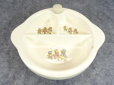 Excello Ceramic 3 Compartment Baby Food Warming Dish