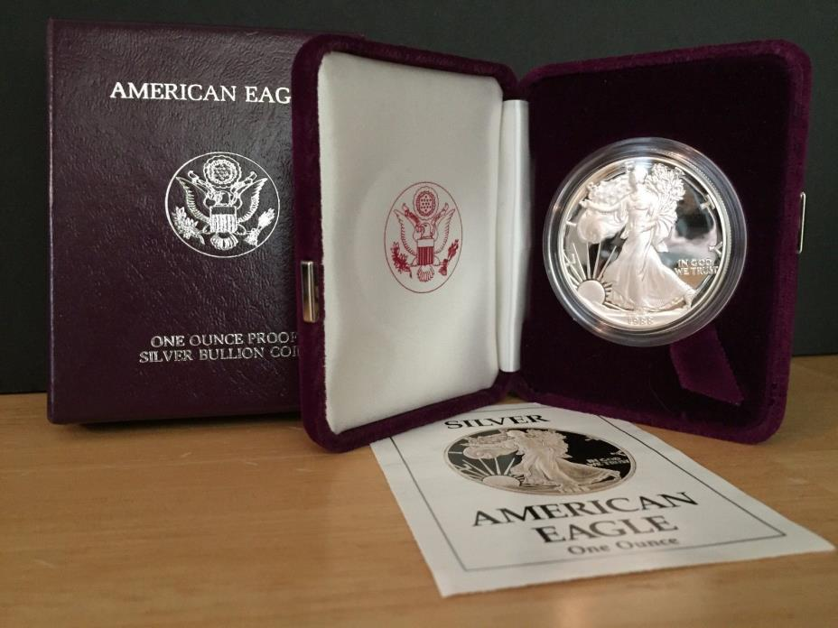 1988-S Silver American Eagle Dollar Proof