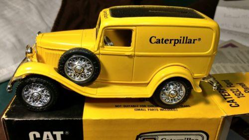1932 Ford Panel Truck Bank (Caterpillar Logo) By Ertl