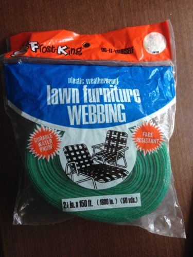 Vintage NOS Frost King Vintage GREEN Aluminum Chair Lawn Webbing  150 ft