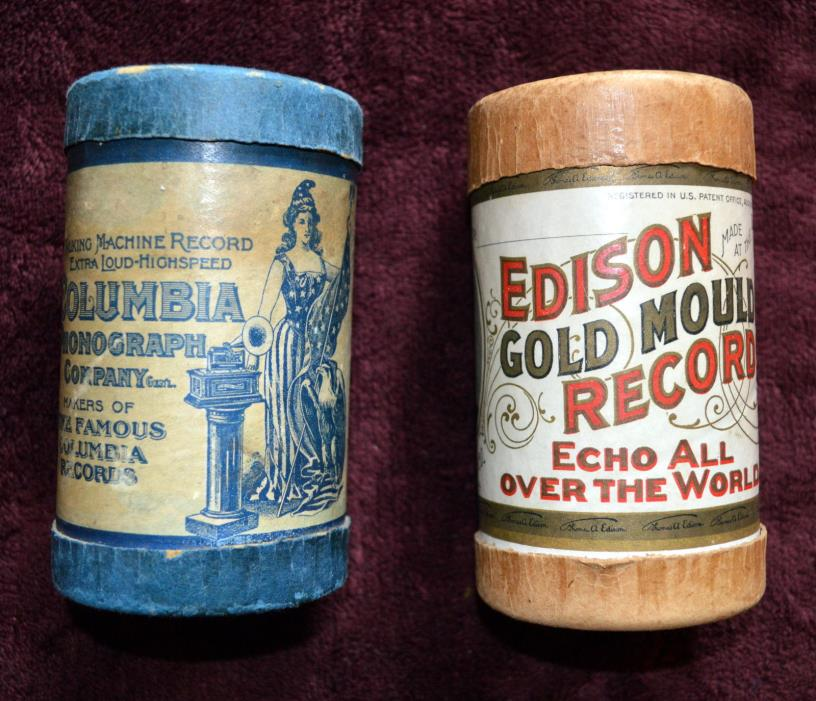 EDISON GOLD MOULDED RECORDS and TALKING MACHINE RECORD COLUMBIA PHONOGRAPH COMPA