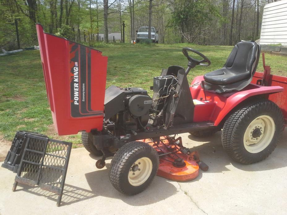 ecomy power king compack  tractor 1614 16hp runs good has carry all