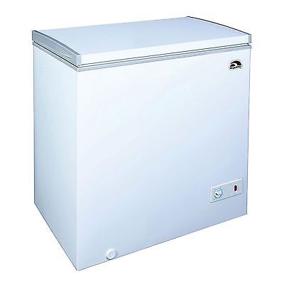 7.1 cu ft Chest Freezer White Igloo Deep Cooling Quick Freezing Food Storage