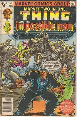 MARVEL TWO IN ONE #60 (VG) 1980 The Thing & Impossible Man