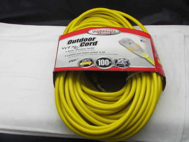PRO-POWER OUTDOOR EXT. CORD 100FT.