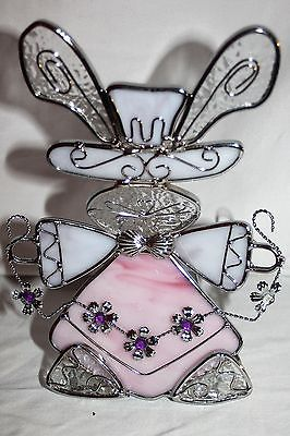 Stained Glass Bunny Votive Candle Holder