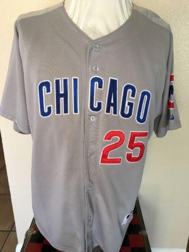 Chicago Cubs Derrek LEE 25 MLB JERSEY - Sewn - Men's Size 50 - Throwback