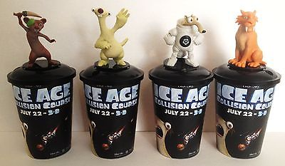 Ice Age: Collision Course Movie Theater Exclusive Cup Topper Set #2 12 oz Cups