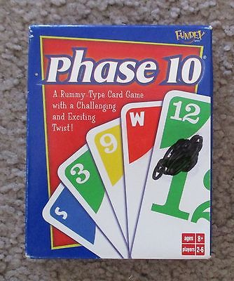 2004 Phase 10 Card Game New in Box Cards Shrinkwrapped