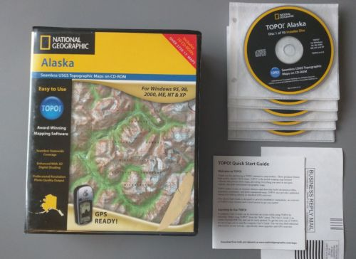 TOPO! USGS Maps CD-ROM - Alaska - National Geographic