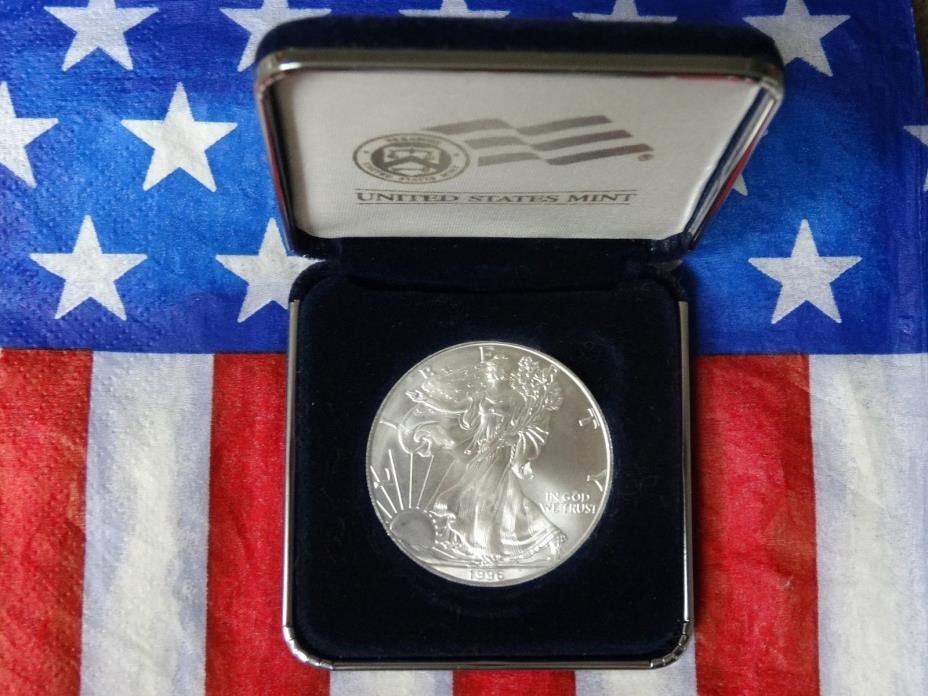 1996 U S MINT UNC AMERICAN SILVER EAGLE DOLLAR   #97