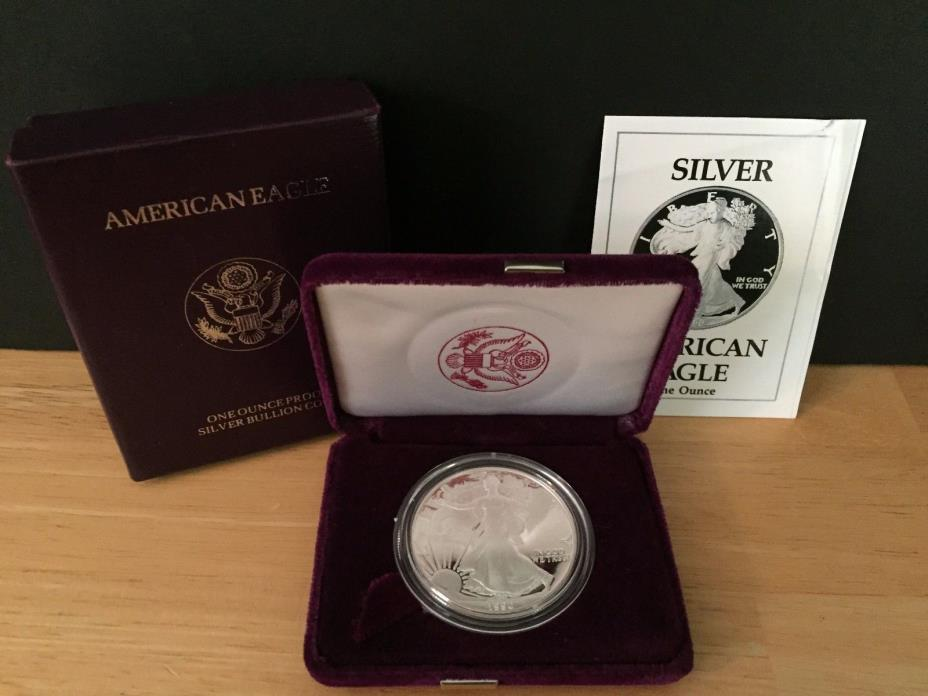 1990-S Silver American Eagle Dollar Proof