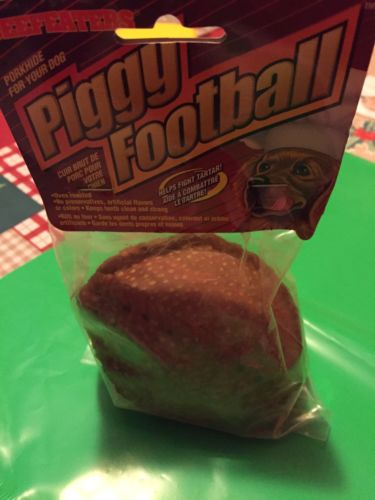 piggy shaped football dog treat by beefeaters
