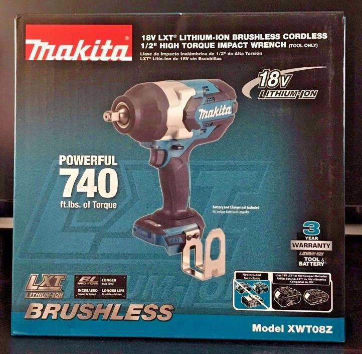 Makita XWT08Z 18V Brushless Cordless 1/2