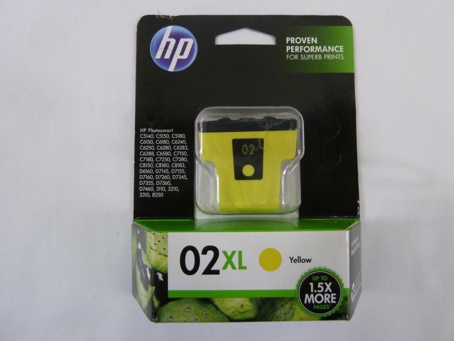 Hp 02XL Ink Cartridge Yellow Exp 2018