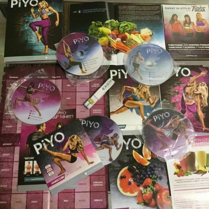 Brand New and Sealed piyo 5DVD Workout Free shipping REAL