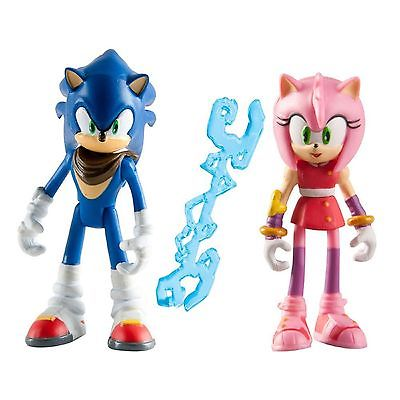 Sonic Boom Pack Of 2-3 Inch Plastic Figure Toy - Sonic & Amy