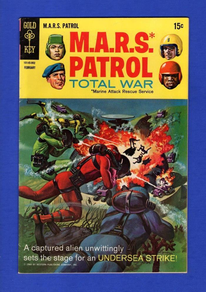 MARS PATROL TOTAL WAR #8 FN/VF GOLD KEY COMICS 1969