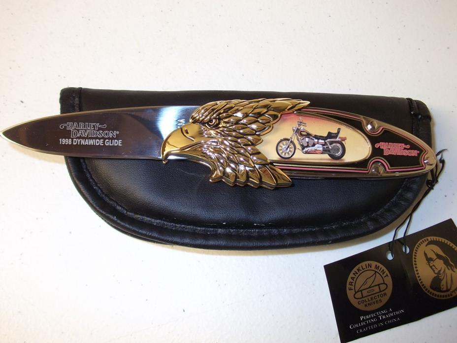 Harley Davidson 1998 Dynawide Glide Franklin Mint Collectible Knife