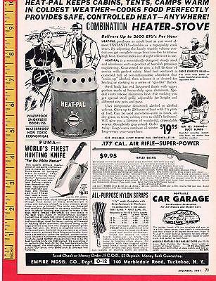 Vintage Knife Advertisement: 1961 PUMA WHITE HUNTER KNIFE, 7.5