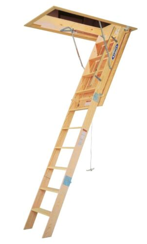 Werner WH2510 10' Wood Folding Heavy Duty Access Ladder
