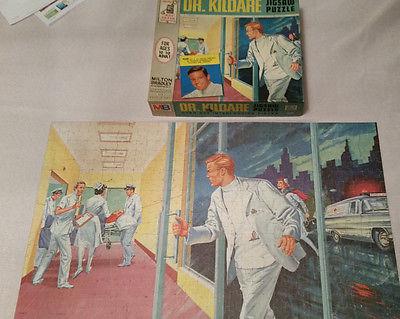VINTAGE 1962 Dr Kildare 600 pc Jigsaw Puzzle-Milton Bradley PUZZLE IS COMPLETE