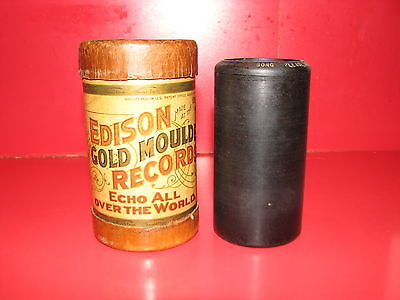 Edison Gold Moulded Record Cylinder #7219 - Song: Please Mr. Conductor