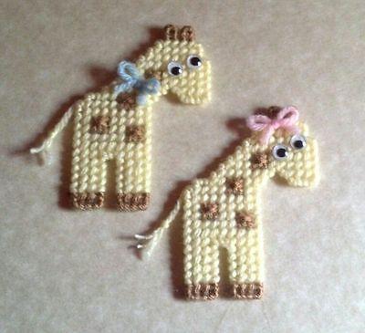 2 Handmade Giraffe...Plastic Canvas
