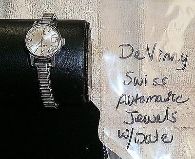 Vintage Ladies Watch, DeVinny Swiss Automatic, Unknown if working