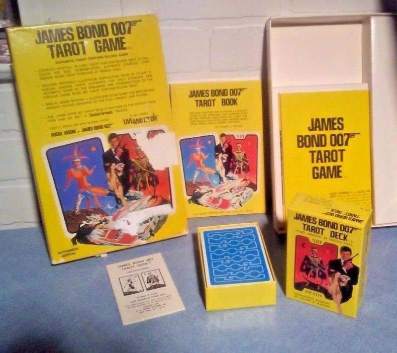 NEW NIB Vintage James Bond 007 Tarot Card Game 1973 Live and Let Die AUTHORIZED
