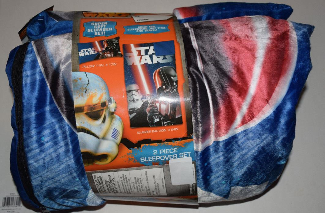 Star Wars Darth Vader Sleepover Sleeping Slumber Camping Travel Bag Pillow Set