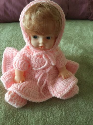 Baby Doll With Handcrocheted Outfit