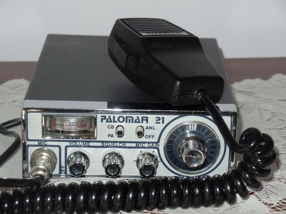 Rare Vintage Palomar Palorama 21 CB Radio With Mic