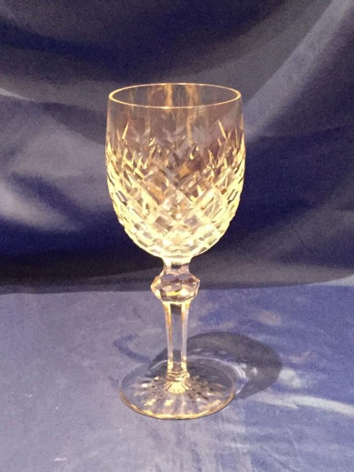 WATERFORD CRYSTAL Set FIVE Water Goblet DISCONTINUED POWERSCOURT PATTERN Mint