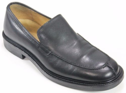 J Crew Men's Dress Shoes Made In Italy Size 9 Black Slip Ons