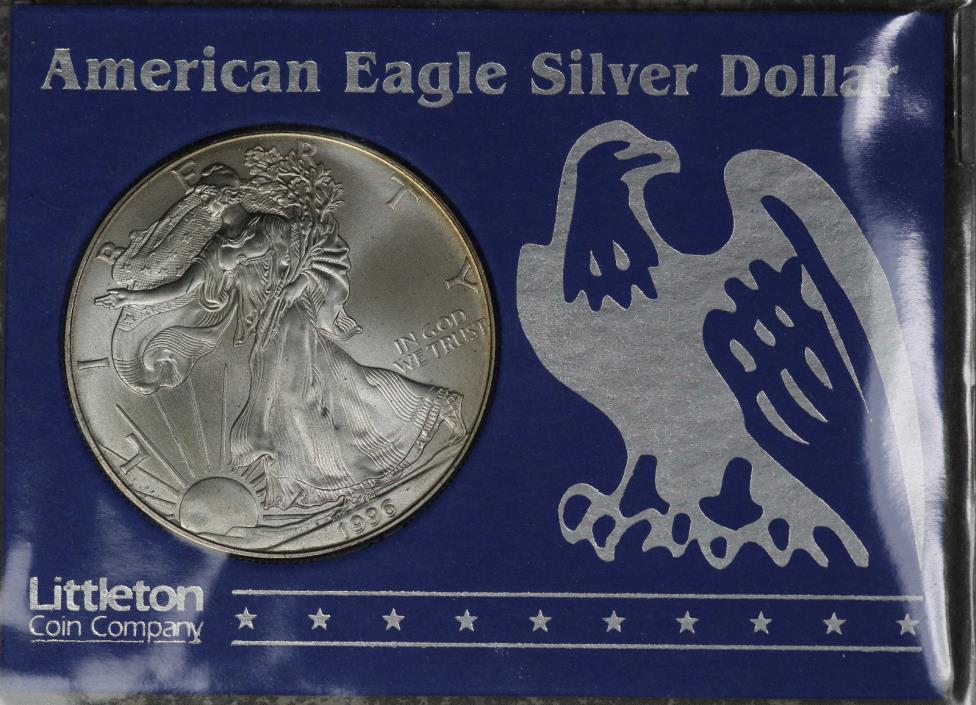 1996 American Silver Eagle - Littleton Coin - Beautiful Coin