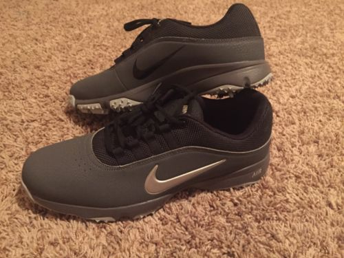 NEW Nike Air Rival 4 Men's Golf Shoes Gray Black Size 7.5 US