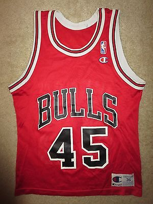 Michael Jordan #45 Chicago Bulls Champion NBA Jersey 36 Vintage