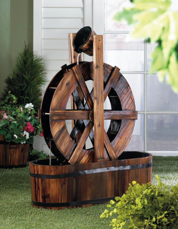 Old Fashioned SPINNING WATER MILL FOUNTAIN