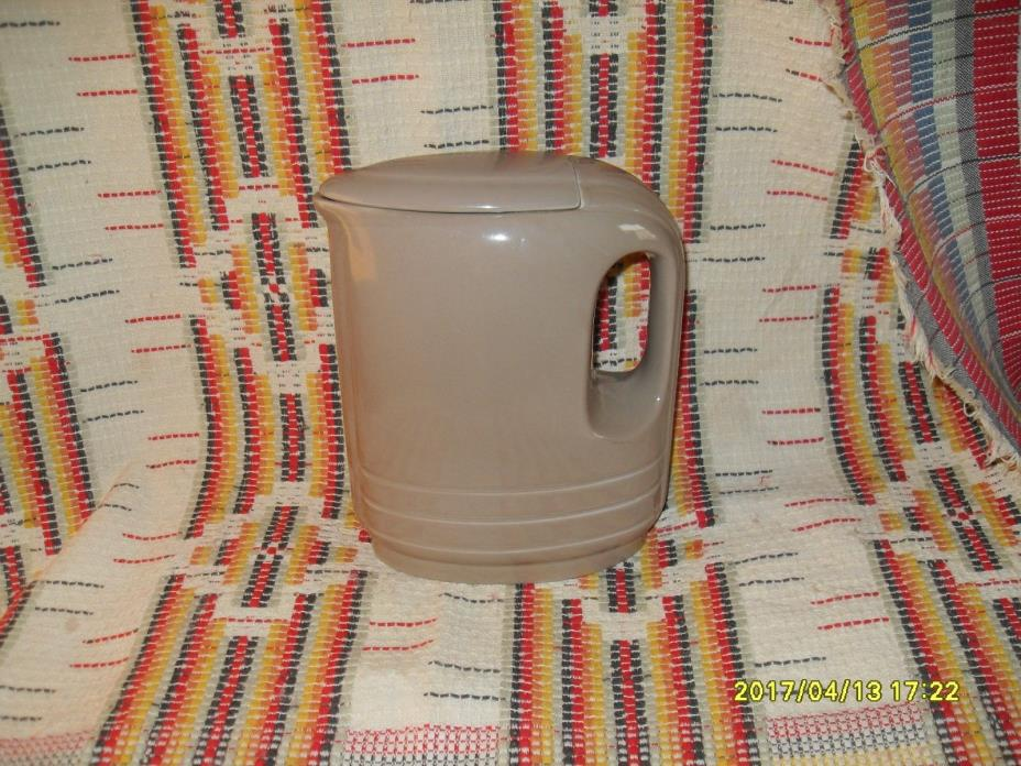 VINTAGE HALL CHINA COMPANY REFRIGERATOR PITCHER WITH LID MADE FOR WESTINGHOUSE