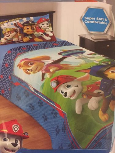Paw Patrol Twin Comforter Bedding NEW Microfiber Super Soft