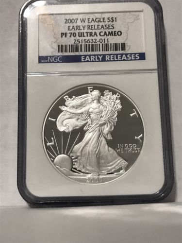 2007 W Proof American Silver Eagle ER NGC PF70UC