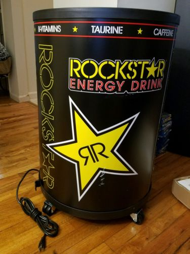 Rockstar Energy Drink Rechargeable Fridge Barrel Cooler Refrigerator RCM-77