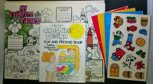 Vintage Crayola Playset Sunshine Design Reusable Board Directions 1983