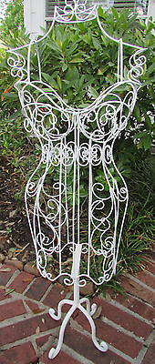 Elegant-Vintage-Scrolling-Iron-Metal-Body-Mannequin-Stand-Dress-Form-HOME-DECOR