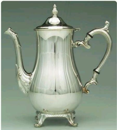 SILVER PLATED COFFEE POT by VM Rogers