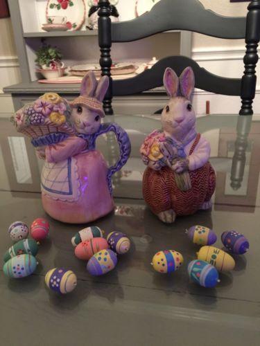 Fitz And Floyd Bunny Hollow Creamer & Sugar Dish