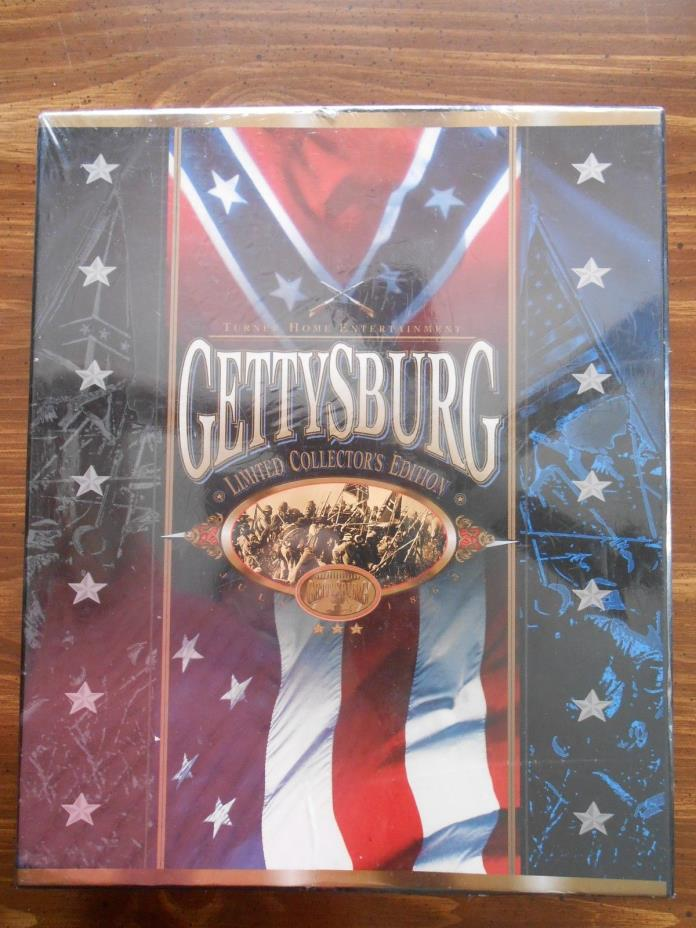 Gettysburg Limited Collector's Edison VHS/CD New